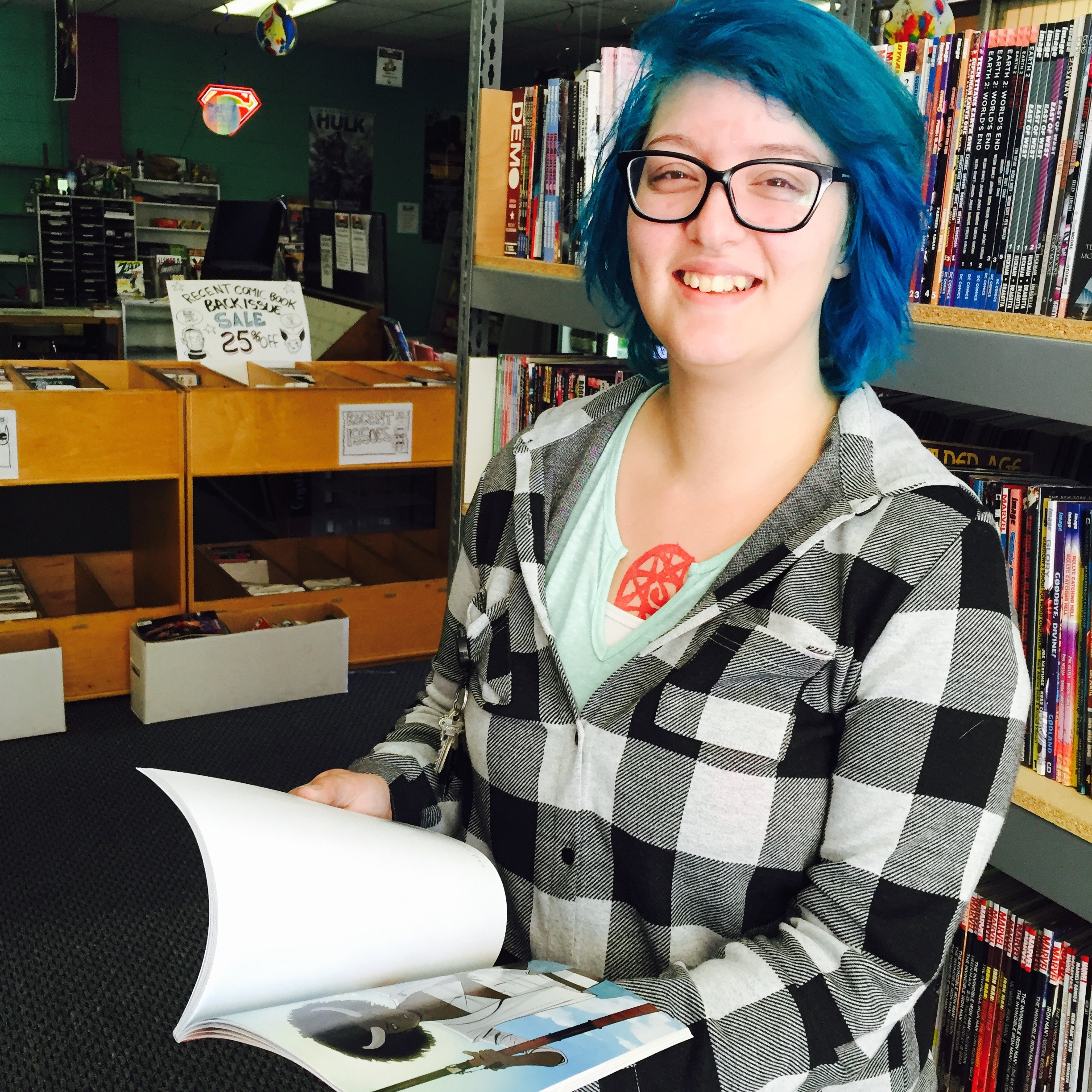 Alex in Santa Rosa: From homeless shelter to comic book store manager
